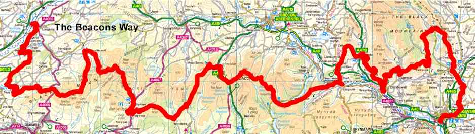 Route Guide – Brecon Beacon Park Society on offa's dyke map, salisbury map, anglesey map, thames path map, mourne mountains map, cardiff map, isles of scilly map, belfast map, somerset map, lake district map, ceredigion map, cambrian mountains map, hemel hempstead map, dartmoor map, ebbw vale map, ben nevis map, great britain map, river severn map, big bend national park map,